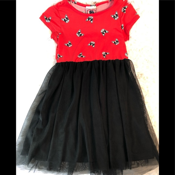 Dreamgirl Other - Girls French Bulldog Themed Dress in Size 5-6